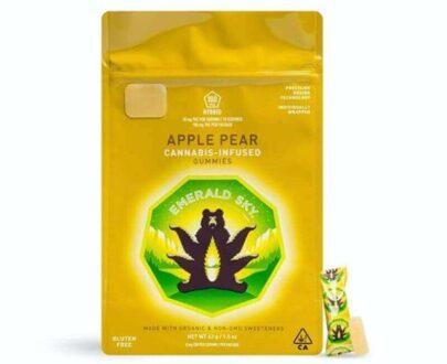 Emerald sky marijuana infused apple pear gummies