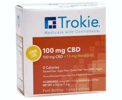 Trokie CBD with melatonin lozenges