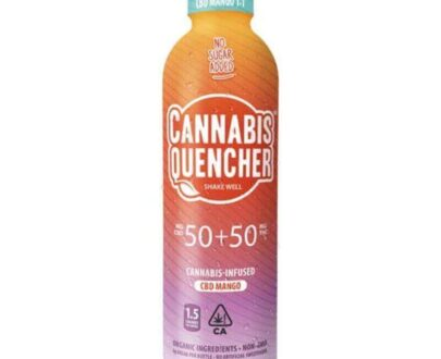 Cannabis quencher CBD infused mango beverage
