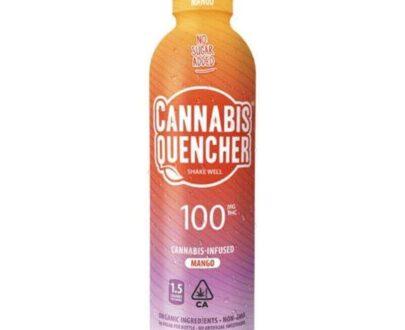 Marijuana infused mango cannabis quencher beverage