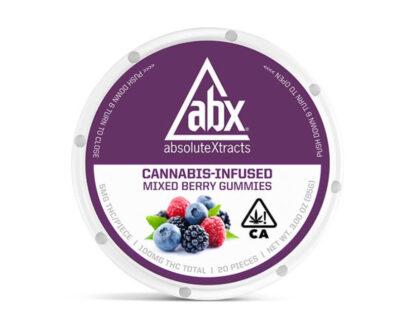 ABX Marijuana infused mixed berry gummy's