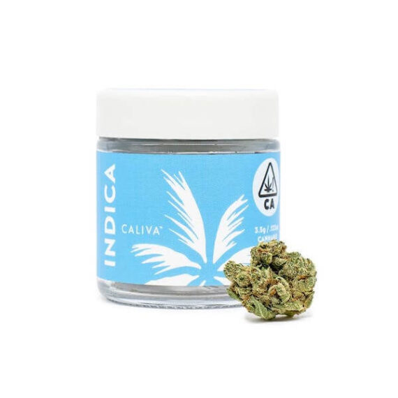 Caliva Platinum OG flower available at local cannabis dispensaries in Port Hueneme and Ojai, CA