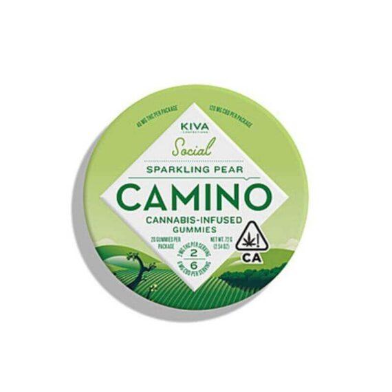 Marijuana infused Camino sparkling pear gummies