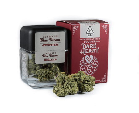 Dark Heart Legend Blue dream flower available at local cannabis dispensaries in Port Hueneme and Ojai, CA
