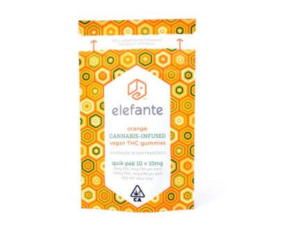 Elefante Marijuana infused orange gummy's