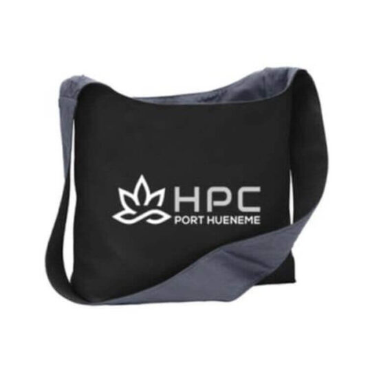 420 HPC- Hueneme patient collective canvas tote with white logo