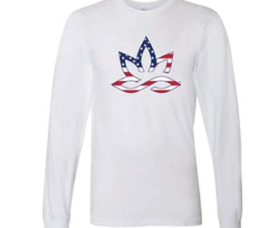 420 HPC- Hueneme patient collective patriotic white long sleeve shirt small