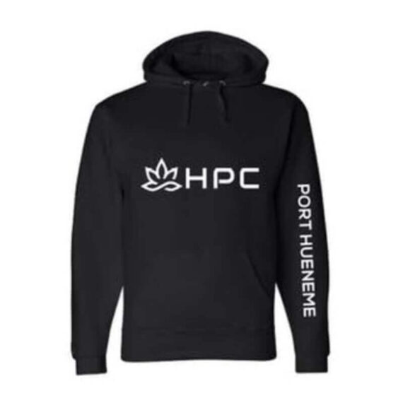 420 HPC- Hueneme patient collective black pull over hoodie large