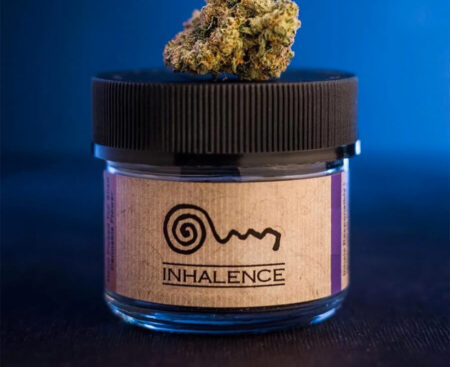 Inhalence Gelato flower available at local cannabis dispensaries in Port Hueneme and Ojai, CA