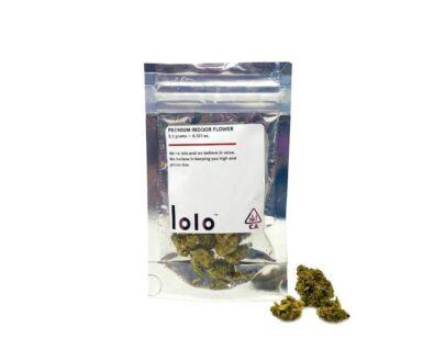 Lolo Sensi star marijuana bag available at local cannabis dispensaries in Port Hueneme and Ojai, CA