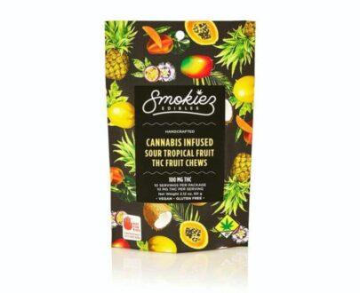 Smokiez Sour Tropical Fruit Chew 100mg