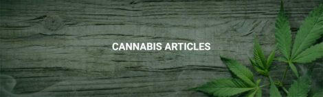 Cannabis Articles Page Title with Wooden Background